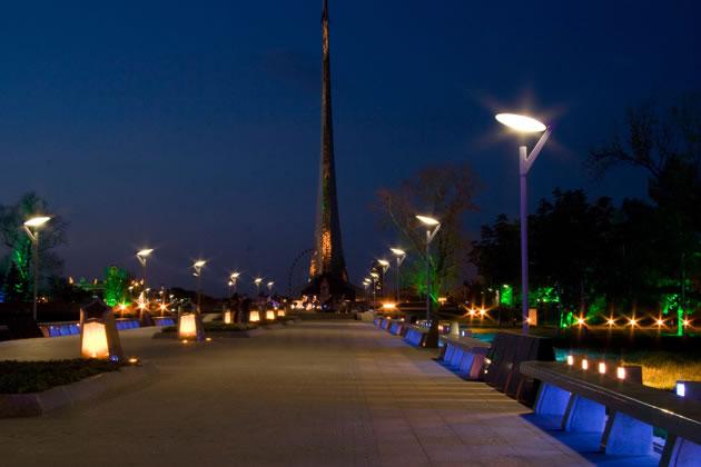 Yuri Gagarin memorial - Simes S.p.A. luce per l'architettura