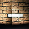 BRICK LIGHT WALL RECESSED